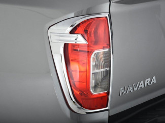 Nissan Navara NP300 2016 Onwards Taillamp Covers In Chrome