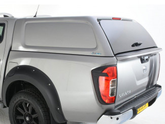 Nissan Navara NP300 Double Cab Aeroklas Hard Top Canopy Commercial Blank Sided
