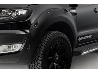 X-treme Wheel Arches Kit In Matte Black For Ford Ranger 2016 On