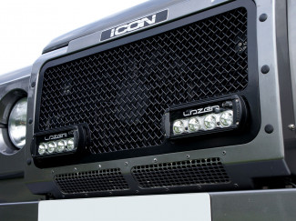 Land Rover Defender Grille fitted with Lazer Lamps