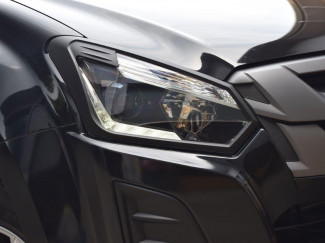Black Head Lamp Cover For The Isuzu D-Max 2017 Onwards