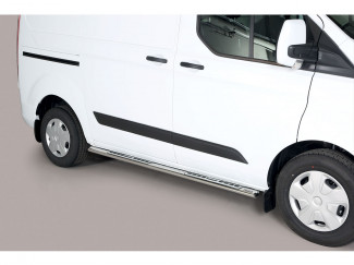 Ford Transit Custom 2018 On Stainless Steel Side Steps