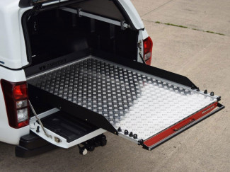 Toyota Hilux Vigo Carryboy Sliding Chequer Plate Heavy Duty Bed Slide