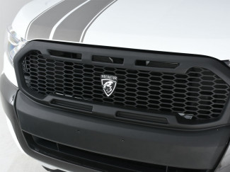 Ford Ranger 2019 Accessories - Matt Black Front Raptor Style Grille - Predator Logo (Wildtrak Model Only)