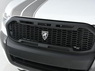Ford Ranger 2019 Accessories - Matt Black Front Raptor Style Grille - Predator Logo