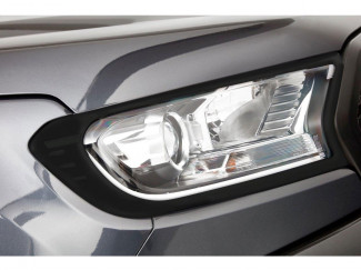 Ford Ranger 2019 On Head Lamp Garnish - Matt Black Finish