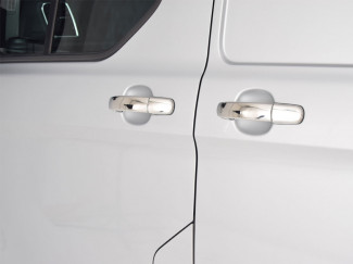 Stainless Steel Door Handle Covers For The Ford Transit Custom 2012 - 2017