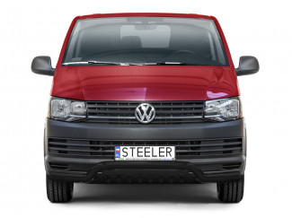 VW Transporter T6 2015-2019 Black Low Spoiler Bar with Axle Plate