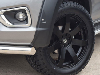20x9 Hawke Summit Black Finish Alloy Wheels 6-114 For Nissan Navara NP300 and D40