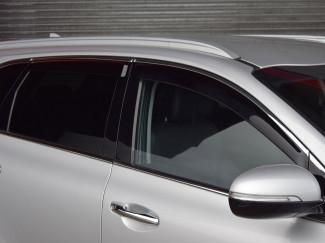 Kia Sorento 2015 on Chrome Strip Wind Deflectors Adhesive Fit