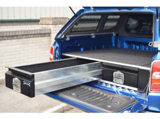 Mitsubishi L200 Double Cab 2015 Bespoke Load Bed Drawer System Tool Gun Box