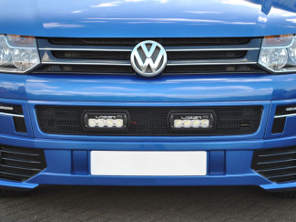 VW Transporter T5 Lazer Lamps Grille Surround with ST-4 LED Lights Bundle