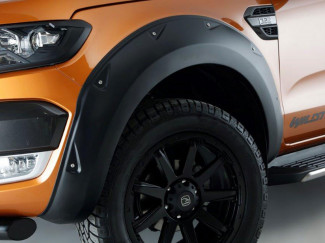 Wheel Arches In Matte Black With Rivets For The Isuzu D-Max Double Cab 2011 - 2015