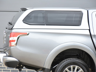 Mitsubishi L200 2015 Onwards Double Cab Aeroklas Hard Top Canopy Windowed