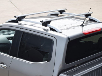 Roof X-Bar set Nissan Navara 2015 - Silver