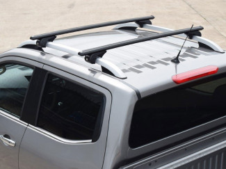 Roof X-Bar set Nissan Navara 2015 - Black