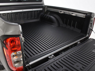 Nissan Navara NP300 Double Cab With C Channels Bed Liner Under Rail