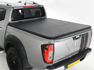 Soft Tri Folding Tonneau Cover Nissan Navara NP300 Double Cab 15 On