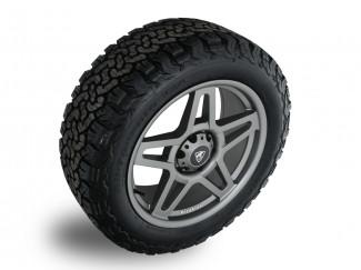 Predator Fox 20 Inch Alloys for Ford Ranger 2012 on - 20X9 Wheels in Matt Grey