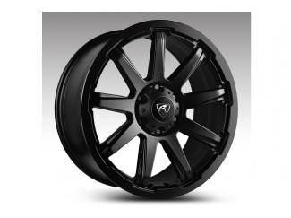 18X8 Hurricane Predator Black Finish Alloy Wheel 6X139.7 Mitsubishi L200 2010 to 2014