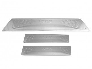 Mercedes Vito W447 2014 On Stainless Steel Sill Protector Covers 3 Pce
