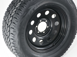 Ford Ranger 18 Inch Steel Wheels - Black Modular - Wide Off Set