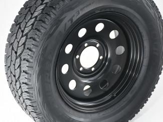 Toyota Hilux 2005-2011 - 18 Inch Steel Wheels - Black Modular - Wide Off Set