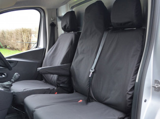 Tailored Front Seat Covers Renault Trafic 2014 Business Plus Model