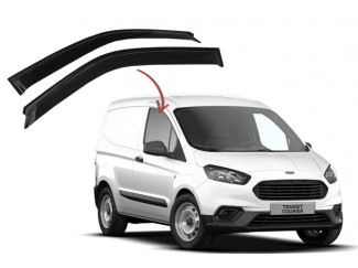 Ford Transit Courier 2014 On Wind Deflector Visors in Channel FO15-IN