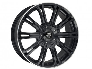 2016 On Ranger Facelift Wolf Vermont Sport Alloy Rim 20 Inch In Black For Wide Arch Kit