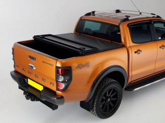 Hard Tri-Folding Tonneau Cover For The Ford Ranger 2012 on - Vinyl Finish