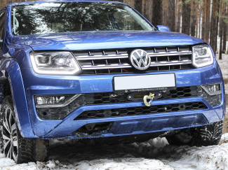 VW Amarok 2010 Onwards Hidden Winch Mount - Front Bumper