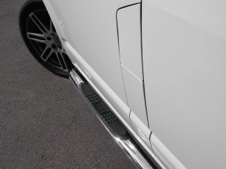 Volkswagen Stainless Steel Side Bars with Step Pads - Angled Ends