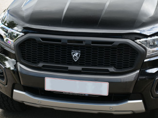 Ford Ranger 2019 Accessories - Wildtrak Grey Front Raptor Style Grille - Predator Logo (Wildtrak Model Only)