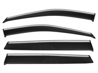 Renault Kadjar 2015 on Chrome Strip Wind Deflectors 4pc Adhesive Fit