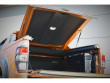 Ford Ranger load bed cover with lined carpeting