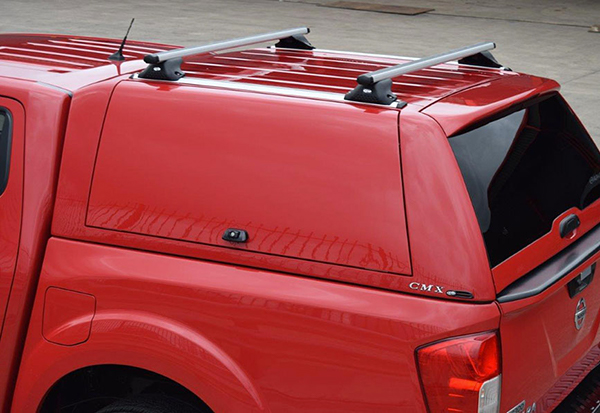 Alpha CMX canopy in Red Z10 fitted to a Nissan Navara NP300