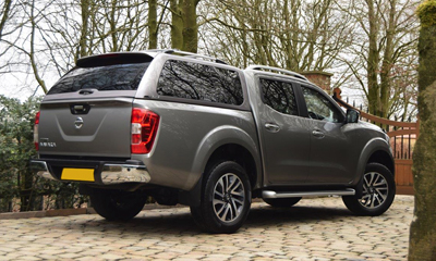 Rear view of the Alpha GSR Truck top Nissan Navara NP300