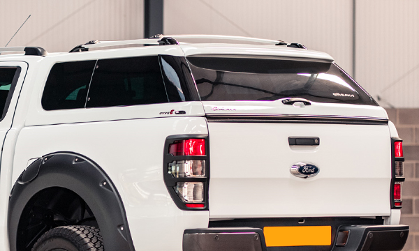Alpha Type-E Truck Top Canopy on Ford Ranger