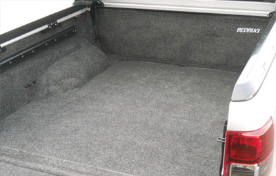 Side view of the innovative Bed Rug liner