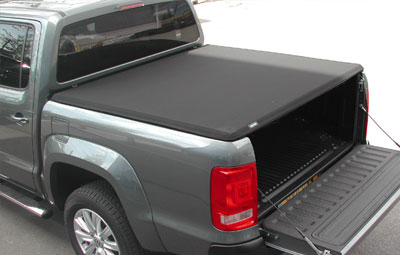 Hard tri folding tonneau cover closed