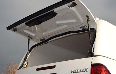 Open solid rear door on the Pro//Top Mid Roof Tradesman