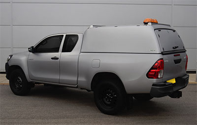 Pro Top mid roof canopy on a Toyota Hilux extra cab