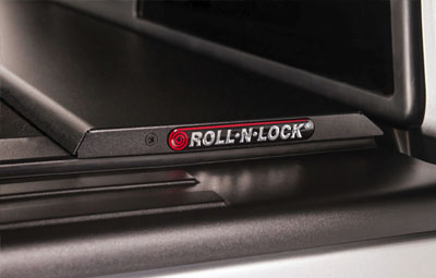 Load bed coer close up with Roll N Lock logo