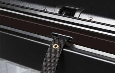Straps on the Roll-N-Lock tonneau cover