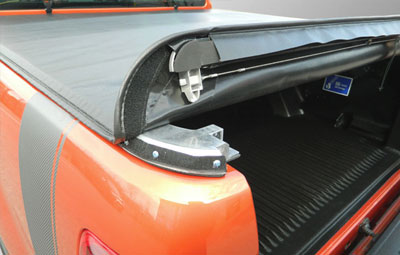 opening of the Soft hdden snap tonneau cover