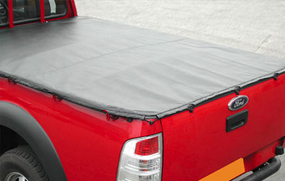 Ford with closed soft tri folding tonneau cover