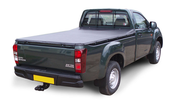 Soft Tri Folding tonneau cover fitted to an Isuzu D-Max single cab