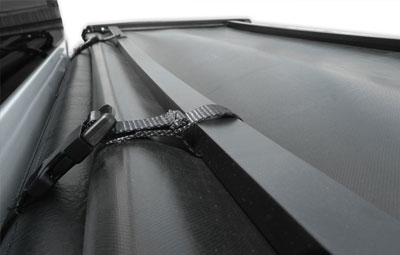 Straps on the folding tonneau cover