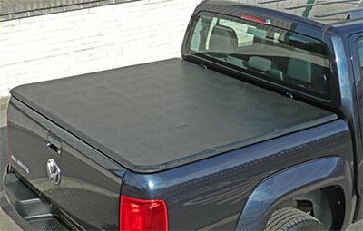 VW double cab fitted with a soft tri folding tonneau cover